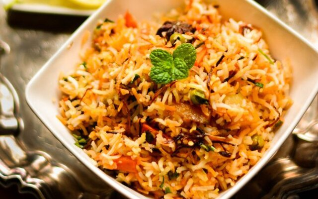 Vegetable Dum Biryani For Two [Vegan, Gluten-Free]