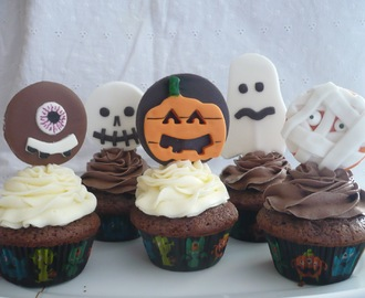 Trick or Treating!!! o Cupcakes de Chocolate con Cream Cheese Frosting :-)