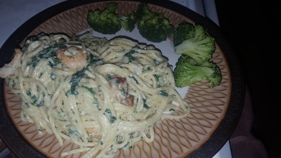 Shrimp Spinach Bacon Alfredo Recipe - Food.com