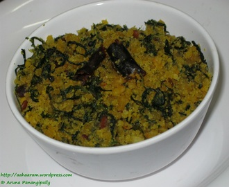 Menthi Koora Patholi (Dry Curry with Bengal Gram and Fenugreek Leaves)