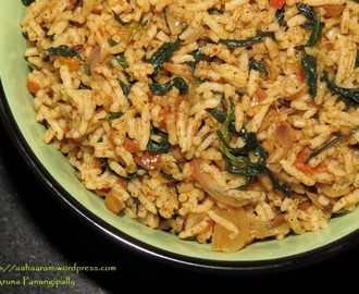 Methi Tamatar Pulav (Fenugreek and Tomato Spiced Rice)