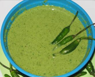 Insanely Hot South Indian Green Chili Chutney