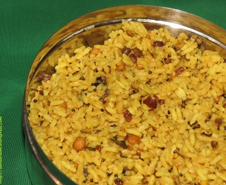 Kovil Pulihora or Puliyodarai (Tamarind Rice as Made in a Temple)