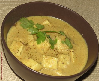 Paneer Kali Mirch (Cottage Cheese in a Yoghurt and Pepper Gravy)