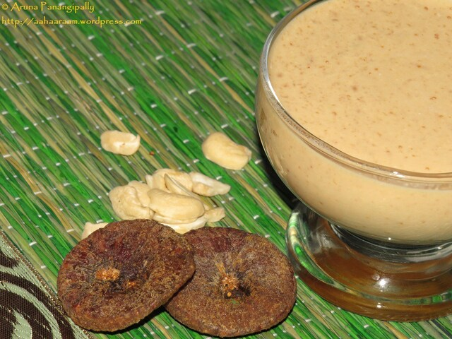 Kaju Anjeer Milkshake (Cashew and Fig Milkshake)