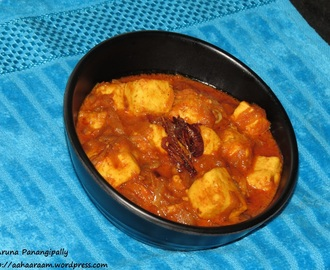 Paneer Do Pyaza or Dopiaza (Cottage Cheese Curry with Loads of Onions)