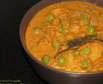 Peas and Potato Kurma (Alu aur Mutter Korma)