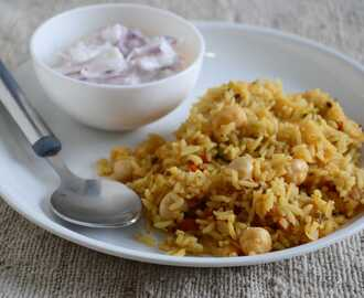 Chick Pea Pulao Recipe