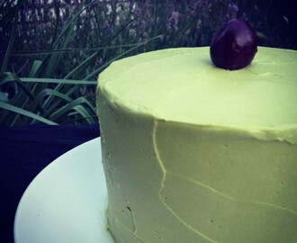 Green Tea and Black Cherry Layer Cake