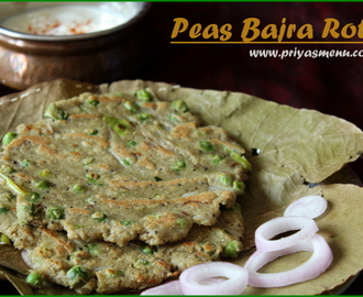 Peas Bajra Roti / Diet Friendly Recipes - 8 / #100dietrecipes