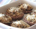 Cogumelos recheados com Quinoa e queijo de cabra  - Quinoa and goat cheese stuffed mushrooms