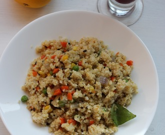 Cracked wheat and mixed vegetable upma/Dalia upma