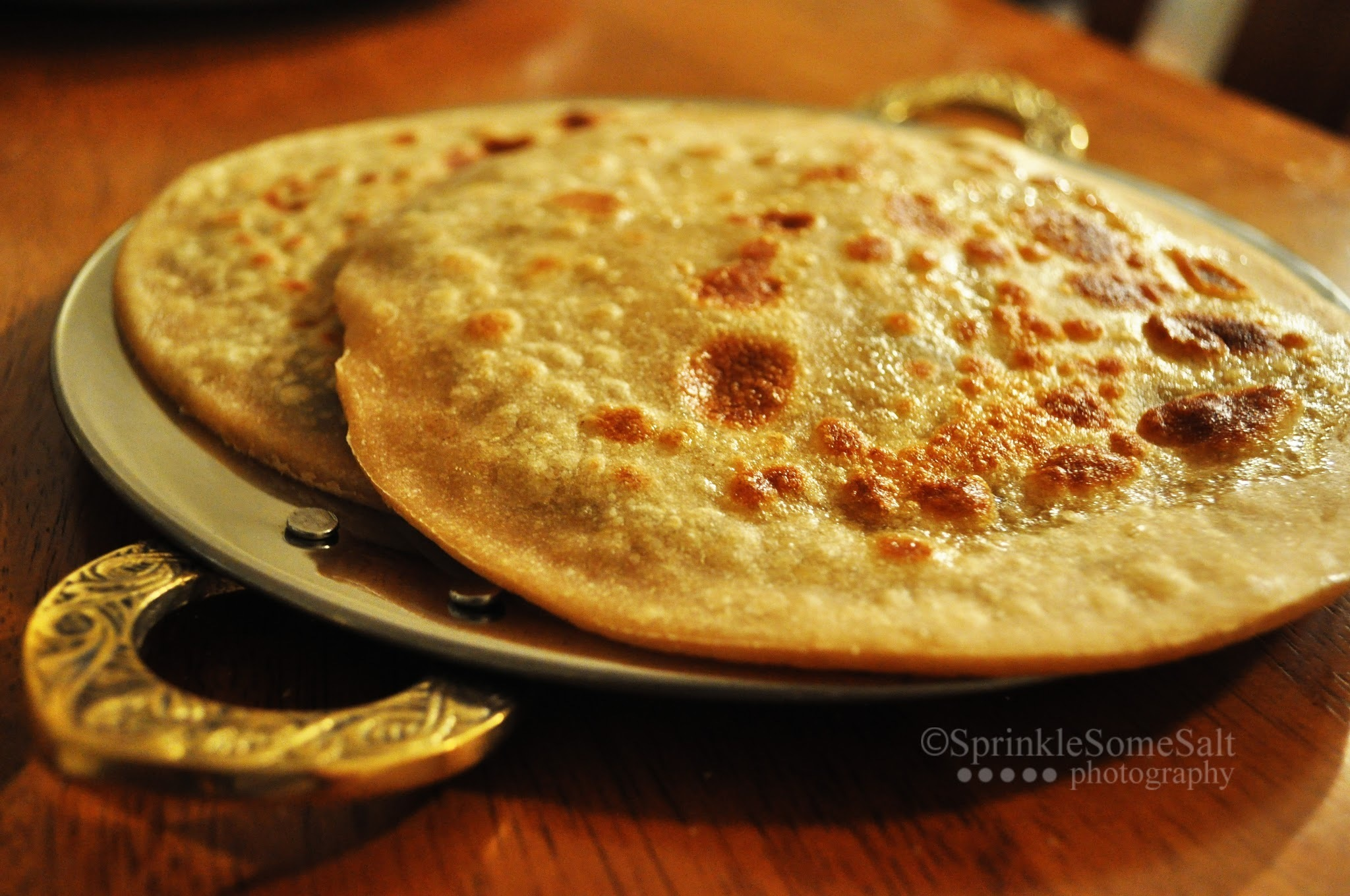 Paneer Palak Paratha / Cottage cheese Spinach stuffed bread
