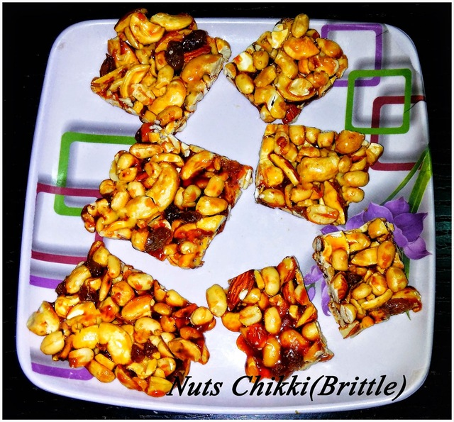 Nuts Patti/Chikki(Brittle)Recipe, How to make Nuts Patti/Chikki(Brittle), Chikki/Brittle  Recipe