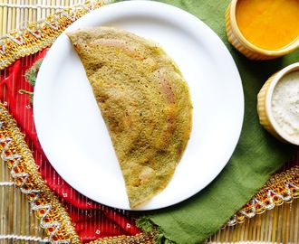 How to make Spinach Dosa