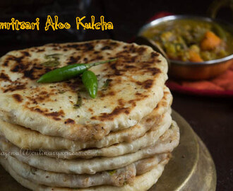 Amritsari Aloo Kulcha - Potato stuffed Indian Flat Bread