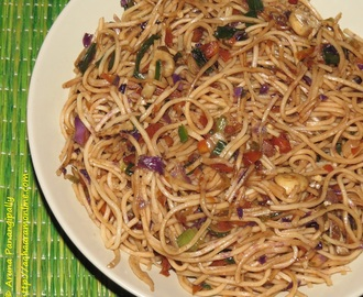 Vegetarian Hakka Noodles – An Indo-Chinese Favourite