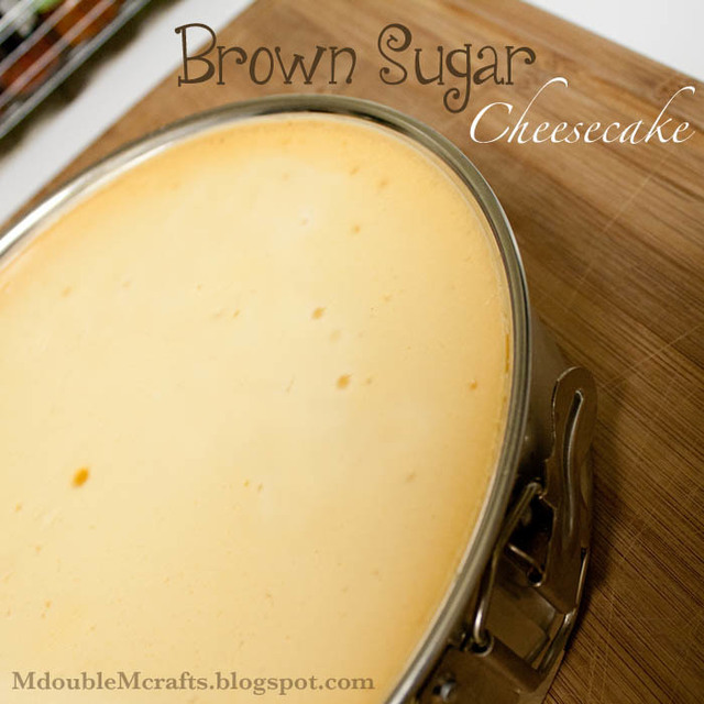 Brown sugar cheesecake (recipe).