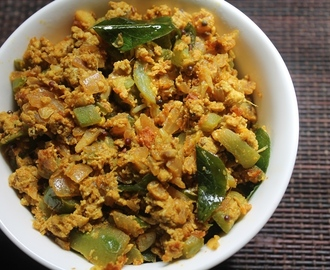 Ridge Gourd & Egg Bhurji Recipe - Peerkangai Egg Poriyal Recipe