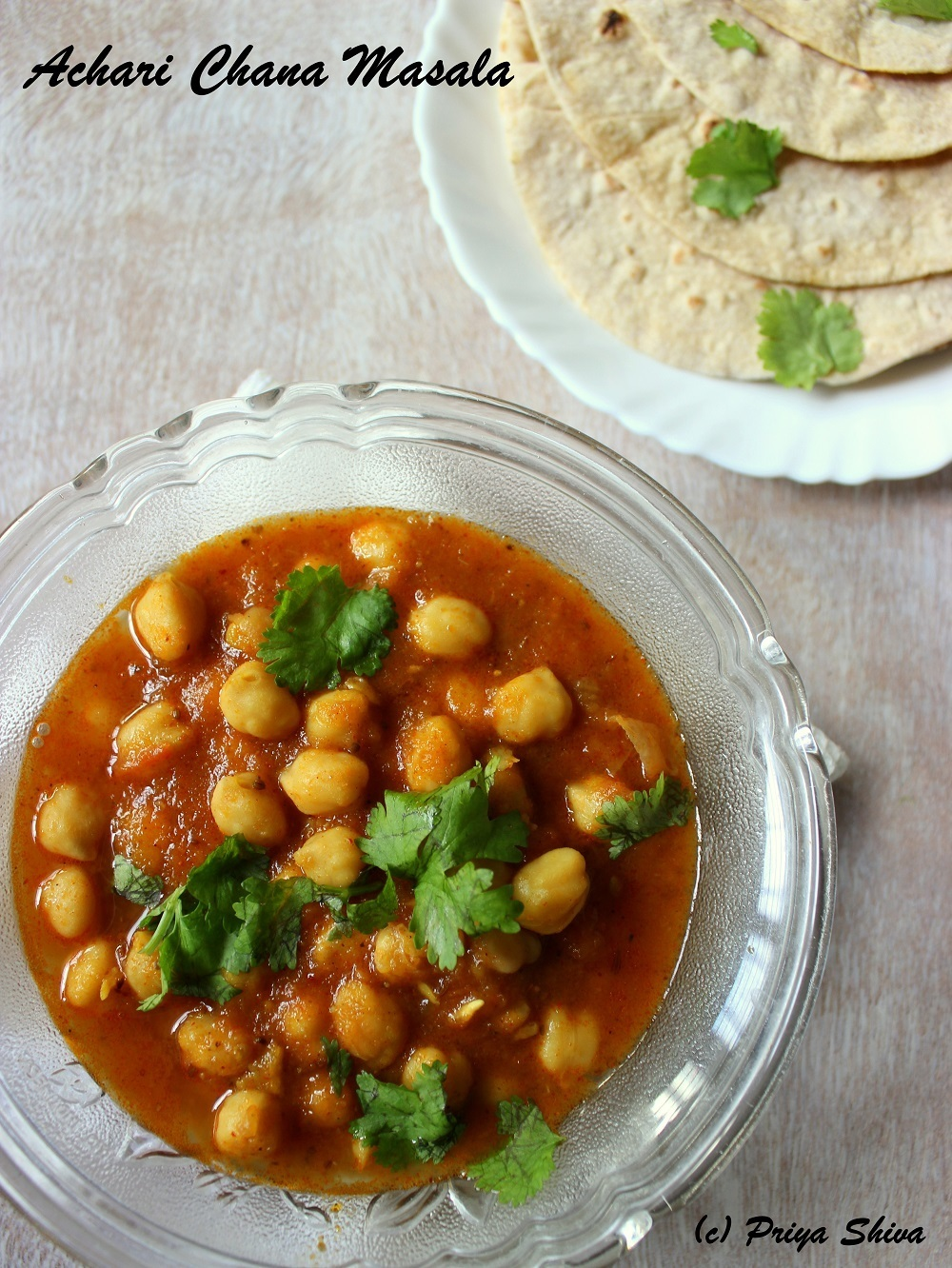Achari Chana Masala / Chickpeas Curry with Pickle Spices