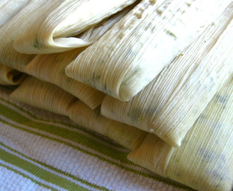 Christmas Tamales with Chicken & Poblanos