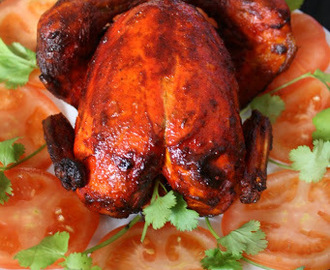 Whole Tandoori Chicken | Christmas Meal Ideas ~ My Guest post @ You too can cook Indian Food