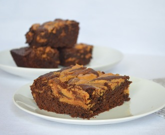 Fudgy Brownies With Peanut Butter Swirl