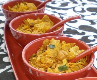 Corn Flakes Chivda (Spicy Indian Snack Mix)