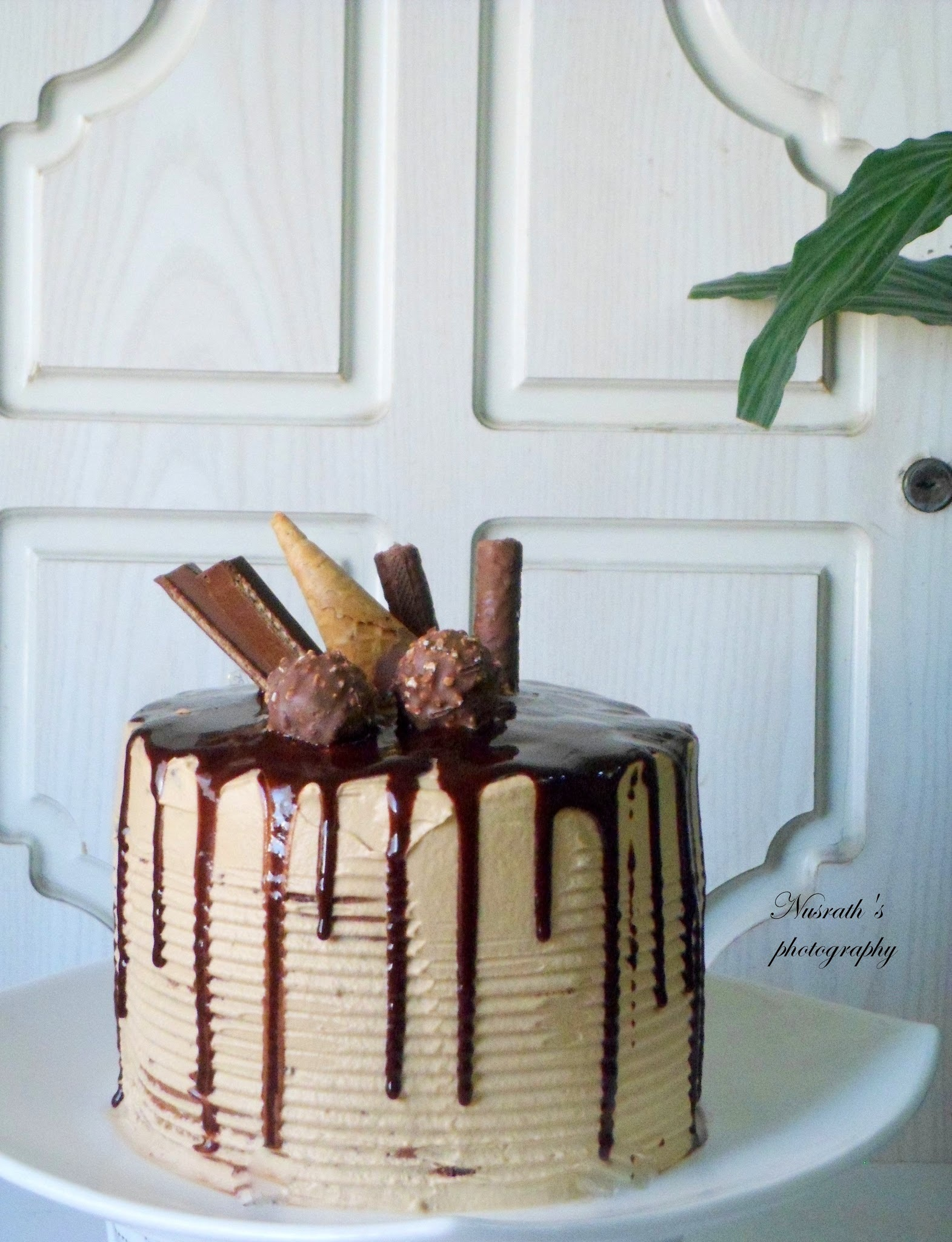 Checker board cake with chocolate ganache frosted with whipped coffee cream frosting |How to make checker board cake from scratch | Chocolate and vanilla cake baked from scratch and assembled to form a checker board cake
