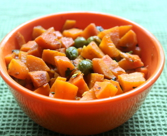 Carrot and peas stir-fry (gajar matar subzi) recipe – no onion no garlic recipe