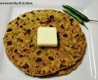 Left Over Dal's Paratha - Pancakes made from Lentils curry