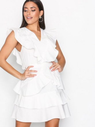 Y.A.S Yasaya S/S White Dress Skater Dresses Vit