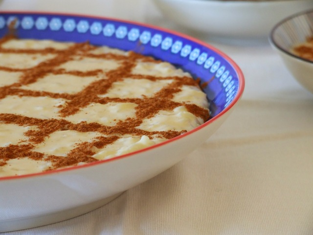 Arroz doce cremoso . Portuguese sweet rice pudding
