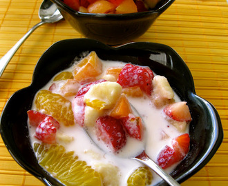Fruit Salads: Topped With Creme Fraiche or In Fresh Cream