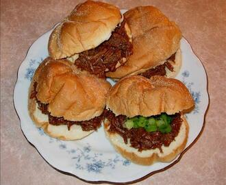 Half-Time Shredded Beef Sandwiches