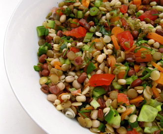 Multi Bean Sprouted Salad In 15 Minutes : A Food Find