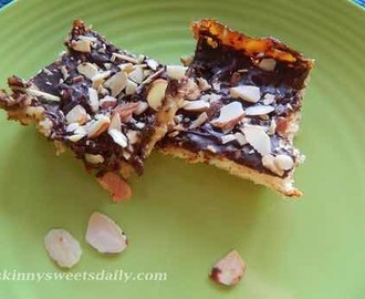 http://skinnysweetsdaily.com/pams-skinny-chocolate-coconut-bars/ Chocolate  Coconut  Bars