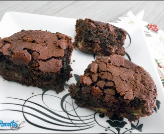 Brownie de chocolate com banana