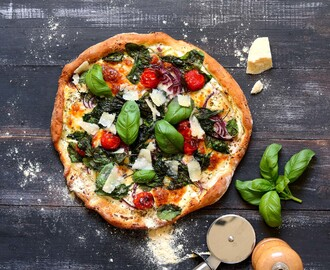 White Pizza with Spinach & Ricotta