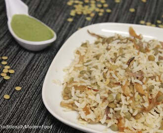Green Lentil Rice/Whole Green Masoor Dal