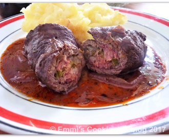 Beef roulades in red wine