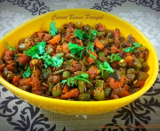 Carrot Beans Poriyal Recipe-How to make Carrot Poriyal