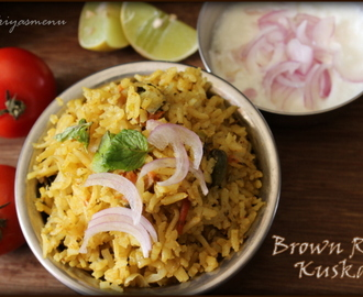 Brown Rice Kuska / Diet Friendly Recipe - 40 / #100dietrecipes