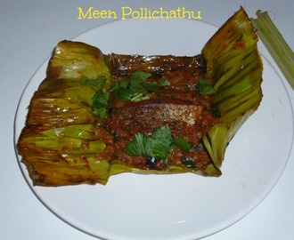 மீன் பொளிச்சது / Meen Pollichathu ( Fish Roasted in Banana Leaf ) | Kerala Recipe
