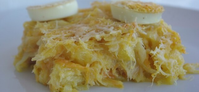 Bacalhau escondido no forno