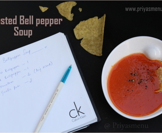 Roasted Bell Pepper Soup / Diet Friendly Recipes - 26 / #100dietrecipes
