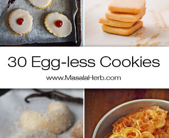 Eggless Cookies – 30 tempting Recipes!