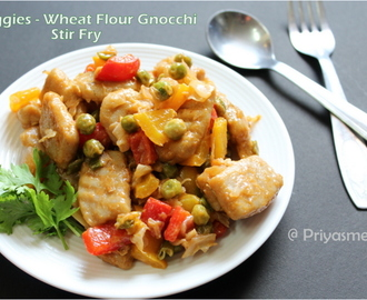 Veggies - Wheat Flour Gnocchi Stir Fry / Diet Friendly Recipes 15 / #100dietrecipes