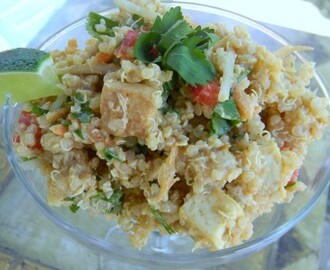Indonesian Quinoa Salad With Peanut Dressing…..