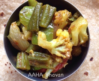 Cauliflower-Ladies finger curry